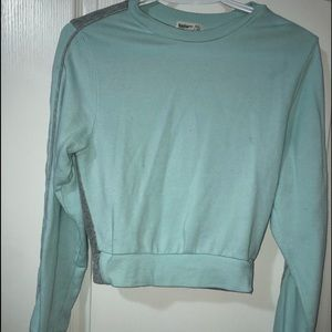 Teal & Grey Long Sleeve